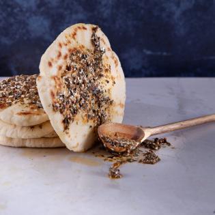 Rezept von Sabrina Ghayour: Pitabrote mit Za'atar