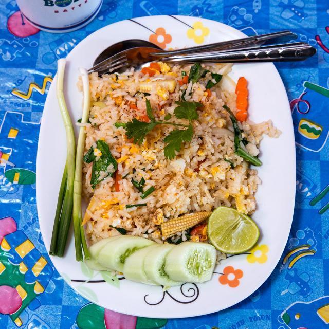 Rezept von Ben Kindler: Khao Pat – Gebratener Reis mit Gemüse