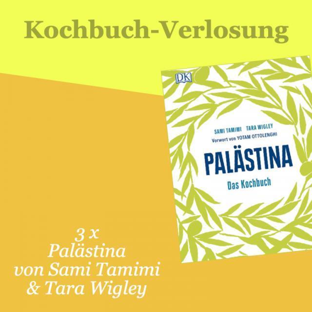 Kochbuch-Verlosung im April: 3 x  Palästina – Das Kochbuch