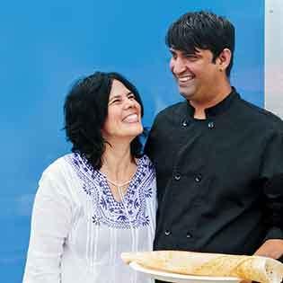Kochbuchautoren Leda Scheintaub und Nash Patel