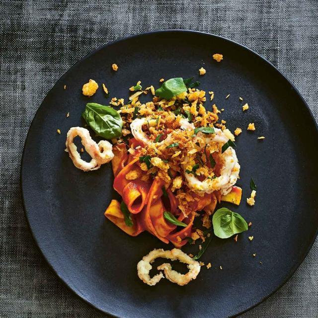 Rezept von Marianus von Hörsten: Calamaretti / Tomate / Pasta