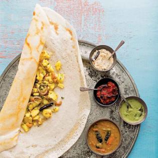 Rezept von Nash Patel & Leda Scheintaub: Masala Dosa