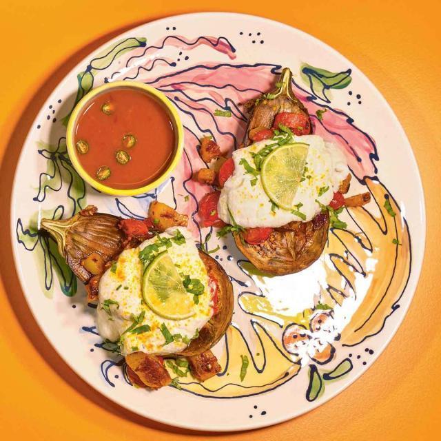 Rezept von Simone & Adi Raihmann: Auberginen aus dem Ofen