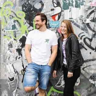 Kochbuchautoren Erik Scheffler und Sonja Baumann