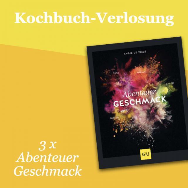Kochbuch-Verlosung im August: 3 x Abenteuer Geschmack