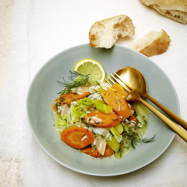 Rezept von Katharina Seiser: Lauch-Karotten-Ragout mit Dill