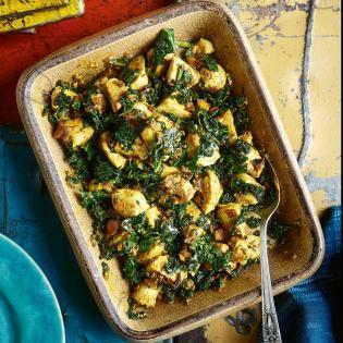 Rezept von Chetna Makan: Hähnchen mit Grünkohl & Joghurt