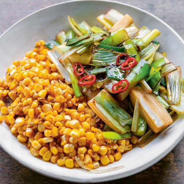 Rezept von Malte Härtig: Lauch und Mais mit Chili