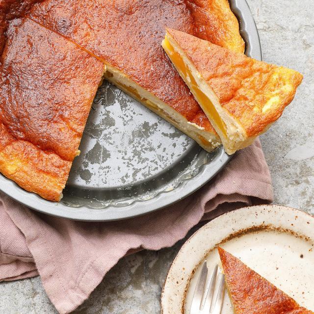 Rezept von Katharina Mayer: Pfirsich-Schmand-Tarte