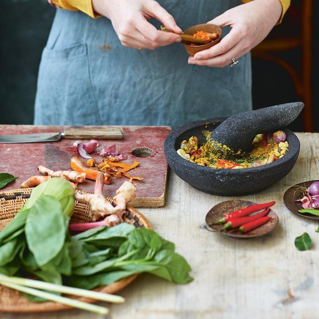 Rezept von Eleanor Ford: Curry mit pfannengerührtem Gemüse