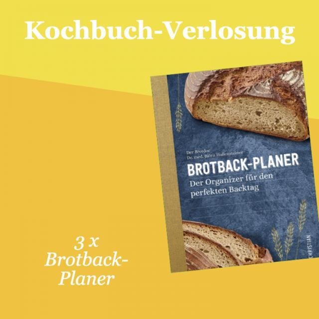 Kochbuch-Verlosung im November: 3 x Brotback-Planer – Der Organizer für den perfekten Backtag