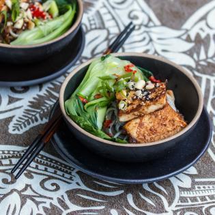 Rezept von Claudia Zaltenbach: Gebratener Tofu mit Yuzu-Soja-Marinade