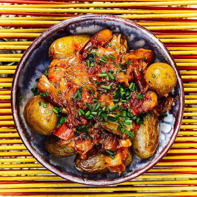 Rezept von Nicky Sitaram Sabnis: Kachaloo – Ayurvedische Kartoffeln mit Datteln