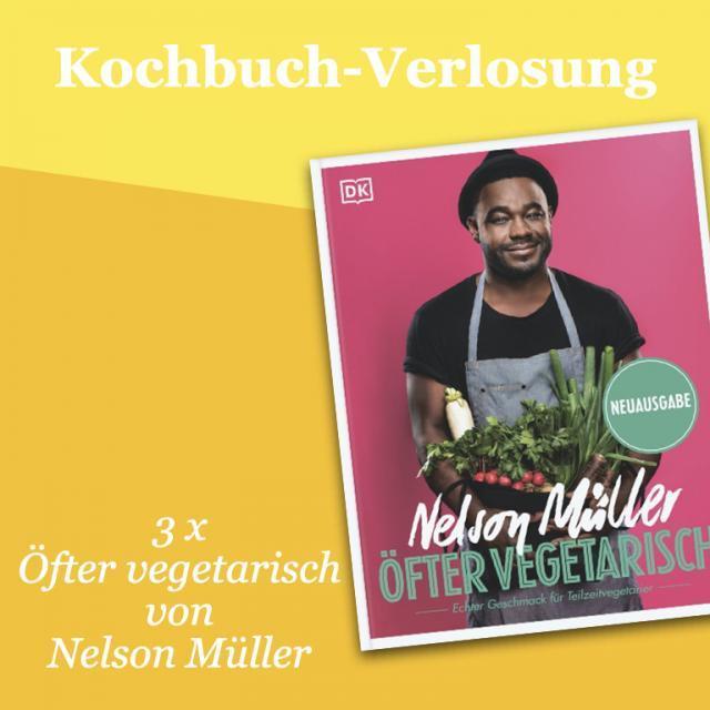 Kochbuch-Verlosung im Januar: 3 x Öfter vegetarisch von Nelson Müller
