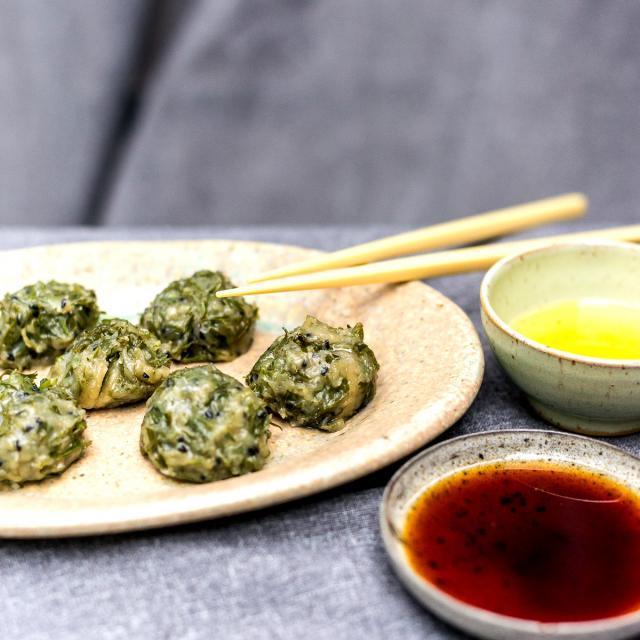Rezept von Tian Tang: Chinesische Dampfklößchen mit Karottengrün