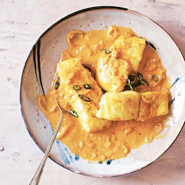 Rezept von Asma Khan: Fisch in Kokosmilch