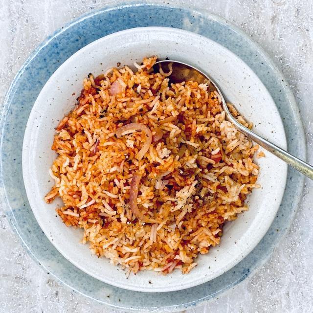 Rezept von Sabrina Ghayour: Tomaten-Knoblauch-Reis